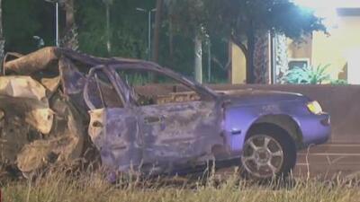 Conductor muere tras el choque y posterior explosión de su vehículo en una autopista de Houston