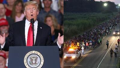 Trump agradece a México por su respuesta a caravana de inmigrantes