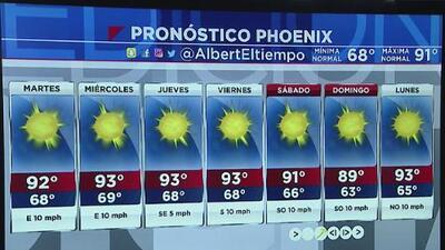 Clima despejado y caluroso en Arizona para este lunes