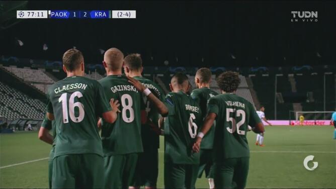 ¡Sentencian! Cabella anota el 1-2 y resuelve la eliminatoria ante PAOK