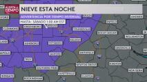 Se espera nieve para esta noche en el Triángulo y otras ciudades del área central