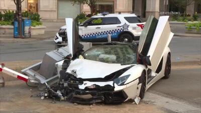 En video: Accidente entre un Lamborghini y una patrulla en Chicago