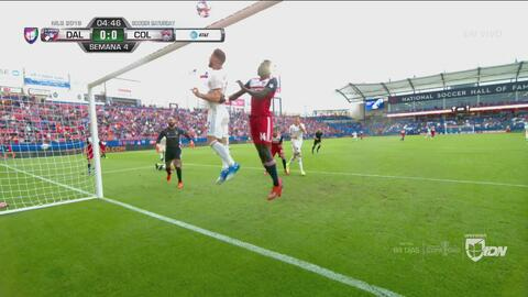 FC Dallas cerca del primero: Dominique Badji revienta el palo con un poderoso disparo