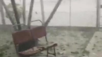Intensa tormenta causa emergencias y destruye el aeropuerto de Santa Clara, Cuba