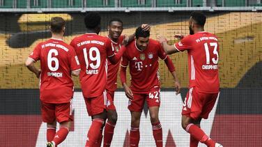 Bayern camina al título gracias al doblete del juvenil Musiala