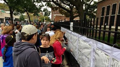 Los colombianos extendieron a las calles de Nueva York el debate por el acuerdo de paz