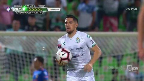 ¡GOOOL! Diego Valdés anota para Santos Laguna