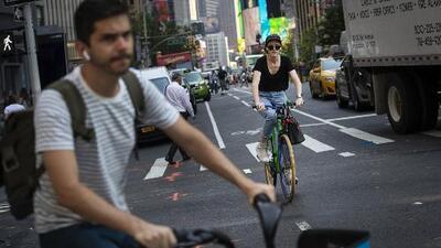 Activistas piden calles más seguras para los ciclistas y peatones de la ciudad de Nueva York