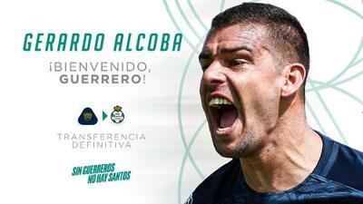 Gerardo Alcoba es nuevo jugador de Santos Laguna
