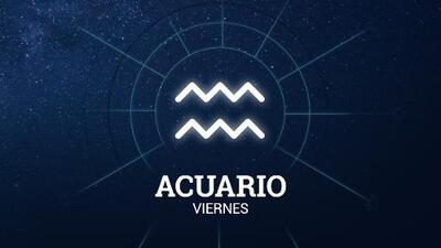 Acuario – Viernes 7 de junio de 2019: andas con paso seguro en el camino del amor