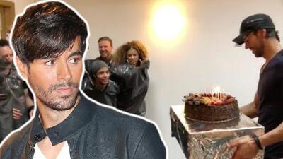 La comida no se bota: la brillante idea de Enrique Iglesias con su pastel de cumpleaños (ahora lo critican)