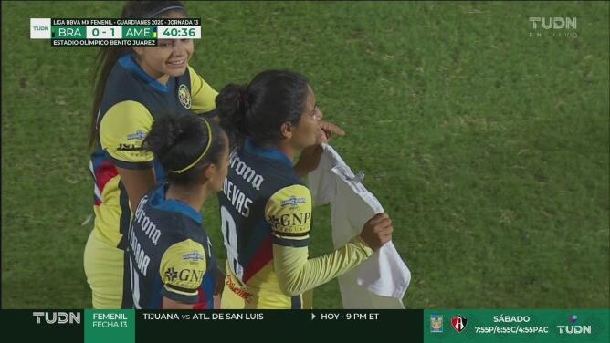¡América se pone en ventaja! Betzy Cuevas se escapa y marca el 0-1