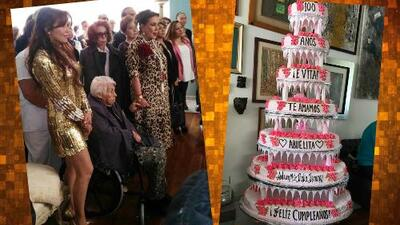 Estas fueron las conmovedoras palabras (y escenas) de Thalía para su abuelita en la fiesta de su centenario