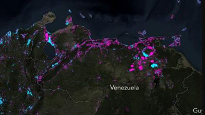 Las imágenes satelitales que muestran cómo Puerto Rico y Venezuela han cambiado en los últimos años