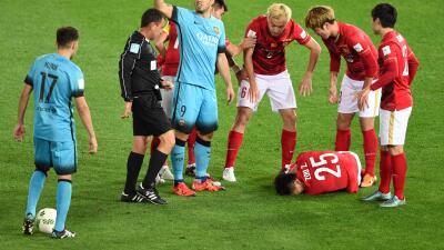 Espeluznante lesión en el Barcelona  vs. Guangzhou