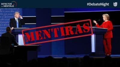 Las mentiras del primer debate presidencial: Trump 9 - Clinton 1