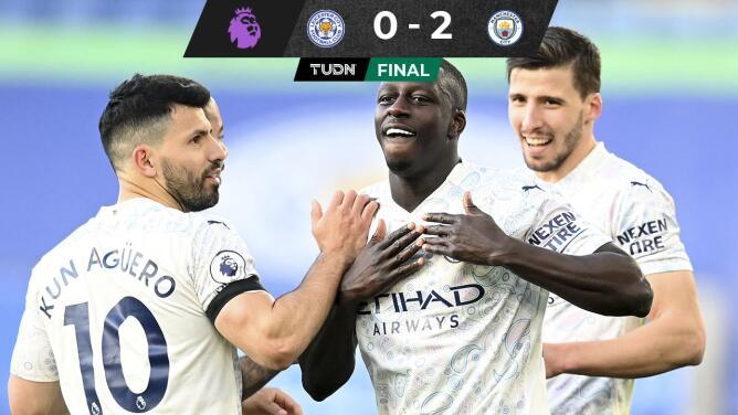 Manchester City se acerca a un nuevo título tras vencer a Leicester