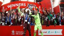 Así celebra Leicester City el histórico título de la FA Cup