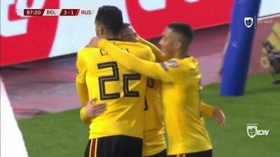 ¡GOOOL! Eden Hazard anota para Belgium