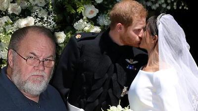 """""""Quisiera haber estado ahí"""": el papá de Meghan Markle no fue a la boda y así felicitó a los novios"""
