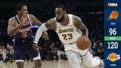 Lakers logran tercer triunfo consecutivo a costa de Phoenix