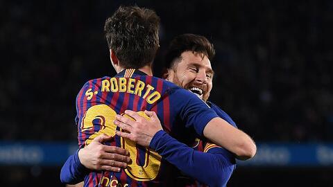 """Sergi Roberto elogió a Messi: """"Solo con entrar, hace que el partido cambie"""""""