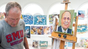 Expresidente Bush lanzará un libro de pinturas con retratos de inmigrantes