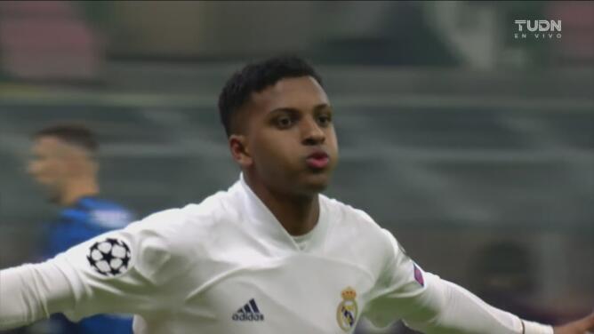 ¡Espectacular! Rodrygo anota el 0-2 de volea ante el Inter de Milán