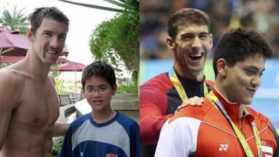 Michael Phelps y Joseph Schooling: ocho años después, el niño derrotó a su ídolo