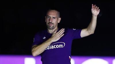 Franck Ribéry, presentado como nuevo refuerzo de Fiorentina