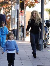Shakira, con mala cara en familia