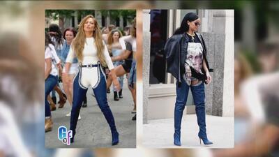 Rihanna le regaló unas botas a JLo pero, ¿a quién le quedaron mejor?