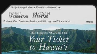 Sortearán viajes para dos personas a Hawái entre usuarios de las tarjetas MetroCard