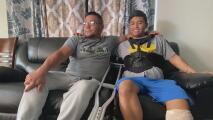 En su intento por reencontrarse con su padre en Arizona, este joven inmigrante resulta herido tras caer al intentar cruzar el muro fronterizo