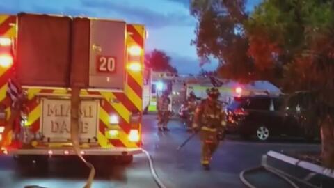 Investigan el incendio que inició en la lavandería de un edificio residencial en North Miami