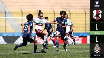 México clasificó a los cuartos de final del Mundial Femenil Sub 17 tras igualar con Japón