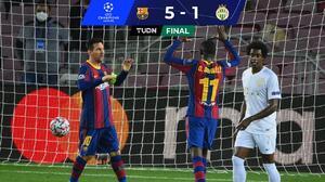 Barcelona receta 'manita' al Ferencváros con juegazo de Ansu Fati