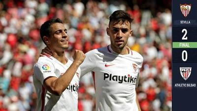 El Sevilla derrota al Athletic de Bilbao y amarra Europa
