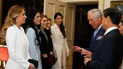 Peña Nieto y Angélica Rivera trajeron sus hijas a Inglaterra para conocer al príncipe Harry
