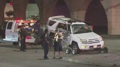 Tres personas son aerotransportadas al hospital tras un aparatoso accidente en Houston