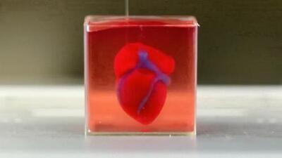 Imprimen el primer corazón con tejido humano en 3D