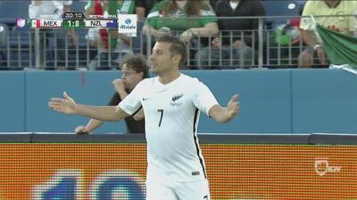 Gol anulado a Nueva Zelanda por fuera de lugar