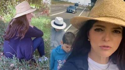 Ana Bárbara y sus hijos se quedaron varados en la carretera y caminaron porque les urgía encontrar un baño