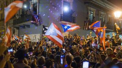Así fue la reacción de los puertorriqueños al enterarse de la renuncia de Ricardo Rosselló