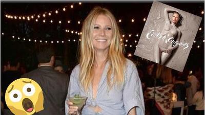 Gwyneth Paltrow a sus 45 años desnuda y bañada en lodo.
