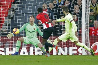 En fotos: Barcelona apenas rescató un punto ante el Athletic en San Mamés