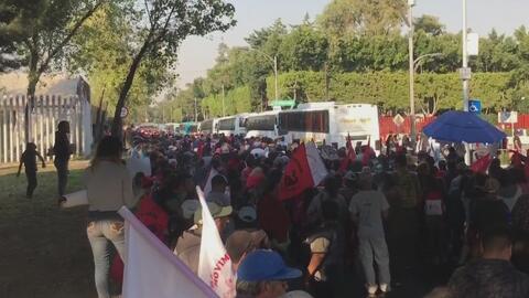 Campesinos mexicanos bloquean el acceso a la Cámara de Diputados y reclaman más apoyo del gobierno