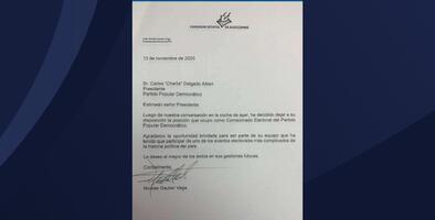 Renuncia el comisionado electoral del PPD, Nicolás Gautier