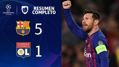 Barcelona 5-1 Lyon – GOLES Y RESUMEN – VUELTA OCTAVOS DE FINAL – UEFA Champions League