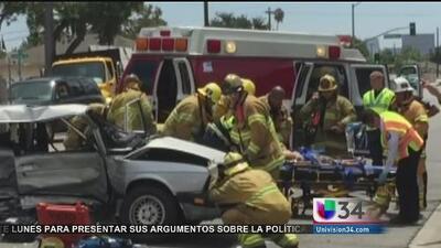 Niño murió en aparatoso accidente en Santa Ana